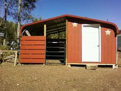Barn Made From A Carport By Myself And Husband 3 Stalls And A