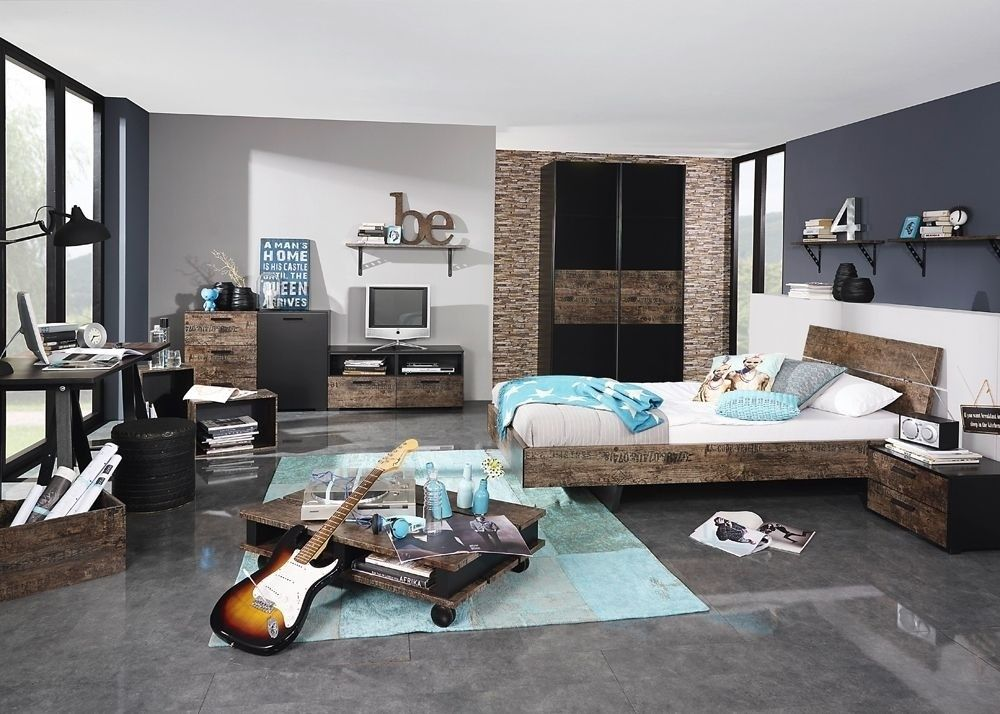 Jugendzimmer Sumatra Kinderzimmer Schwarz mit Vintage Design 8436 ...