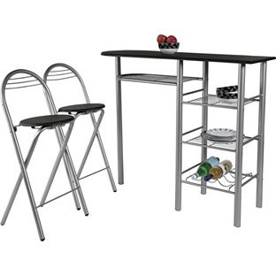 Buy Amelia Black Breakfast Table And 2 Chairs At Argos.co.uk   Your