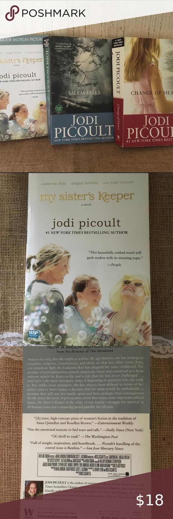 Jodi Picoult Novels Set Of 3 Books Novels Book Cover Page Books