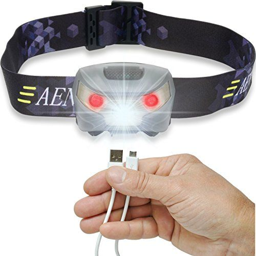 Lightweight /&... Waterproof USB Rechargeable LED Head Torch Super Bright