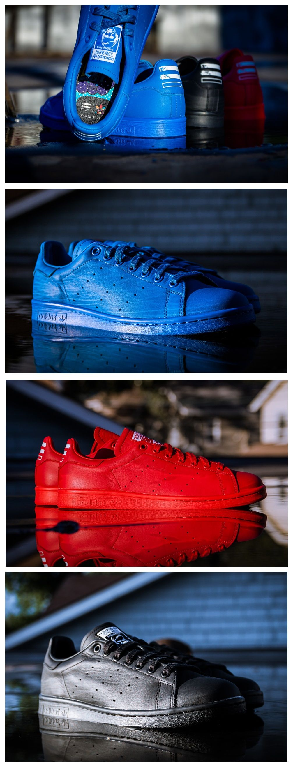 finest selection 48119 608f9 adidas Consortium x Pharrell Williams Stan Smith Solid Pack