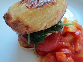 Det lille køkken: Kartoffelburger med laks og pebersalsa