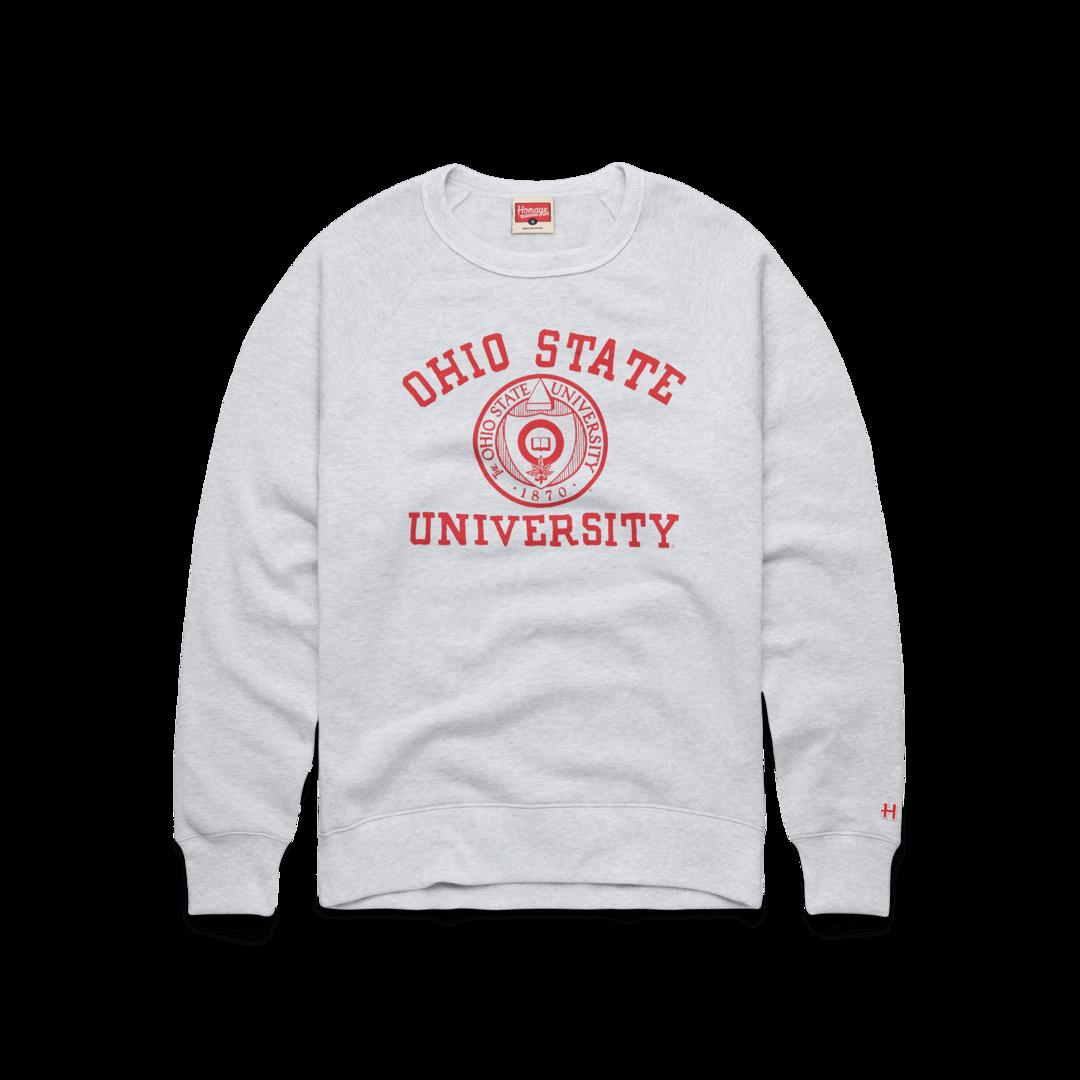 Ohio State University Seal Crewneck Retro Osu Buckeyes Sweatshirt Homage Ohio State Outfit University Shirt Ohio University Apparel [ 1080 x 1080 Pixel ]