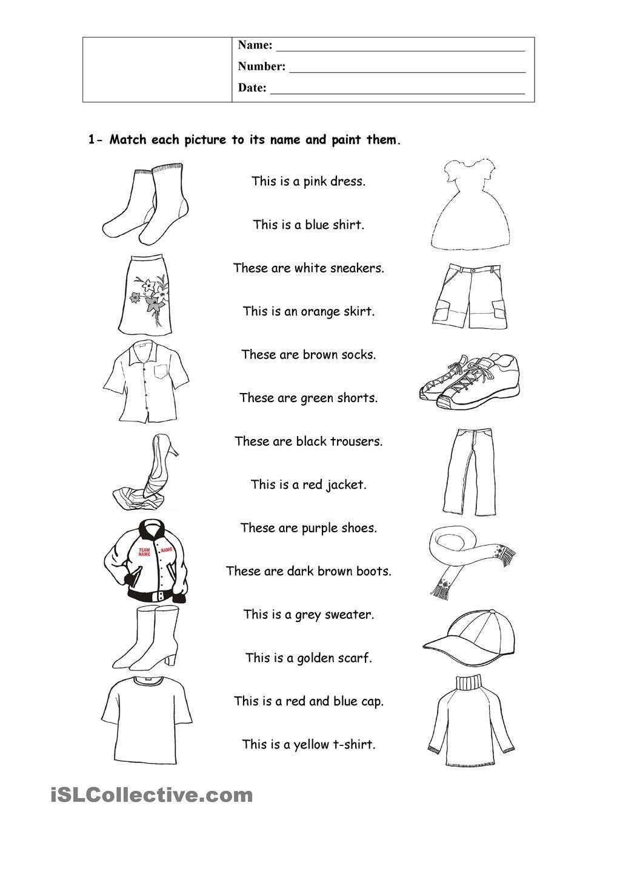 Clothes Clothes Worksheet English Clothes English Exercises [ 1440 x 1018 Pixel ]