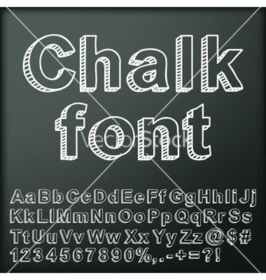 chalk art font
