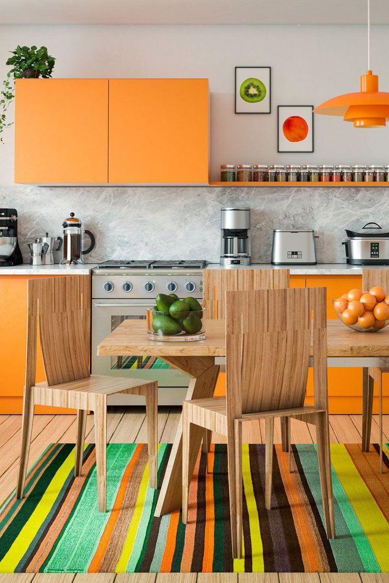 Cuisine orange : 15 cuisines à la déco incroyable et terriblement