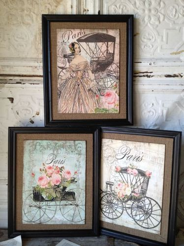 Marie Antoinette Decor Parisian Carriage Wall Art at French Charmed