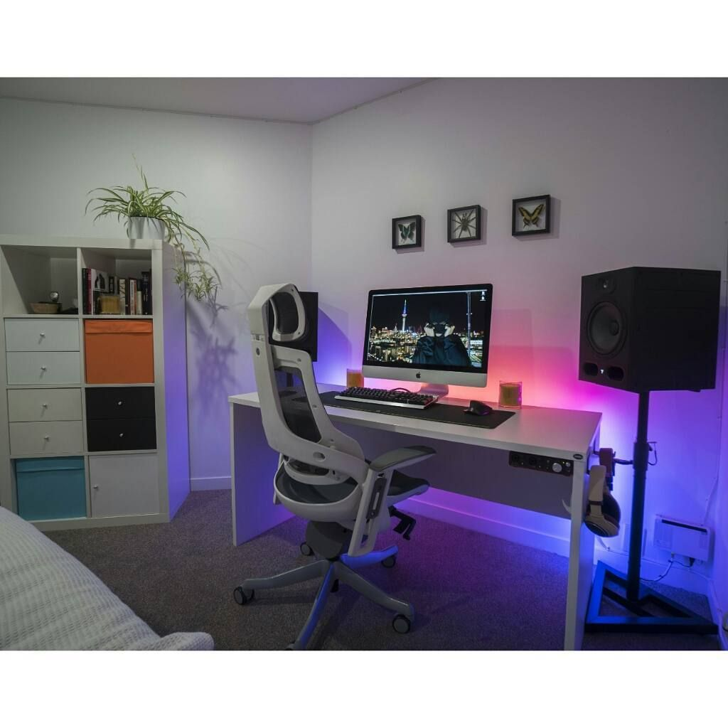 stylish office desk setup. 29 Likes, 1 Comments - Mal PC Builds And Setups (@pcgaminghub) Stylish Office Desk Setup S