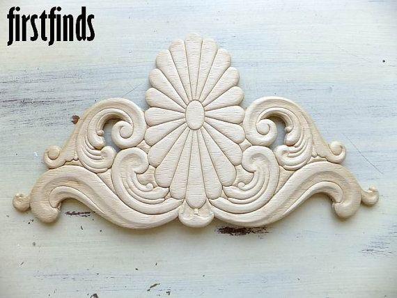 Wood Applique Furniture Embellishment Large Sunburst Decoration