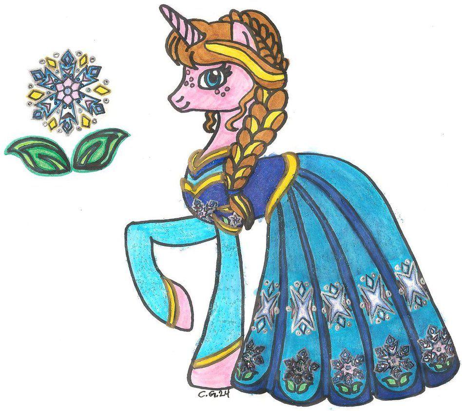 MLP: FiM Disney Princess Anna | Frozen | Pinterest