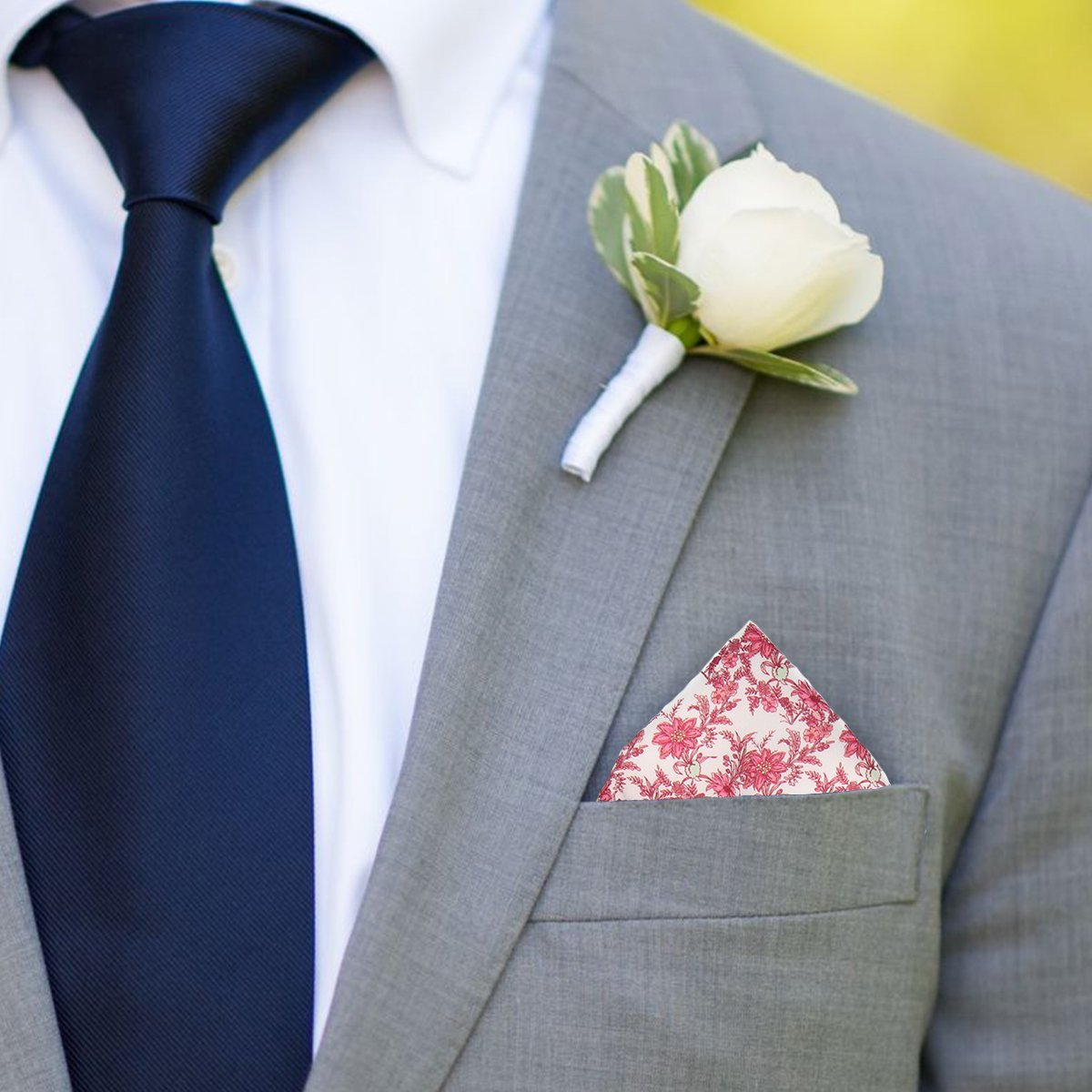 Moss London Mens Mauve Knitted Pocket Square Formal Handkerchief