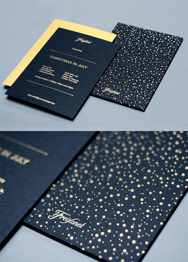 Showcase of creative print designs with hot foil stamping freixenet invites by them design more stopboris Choice Image