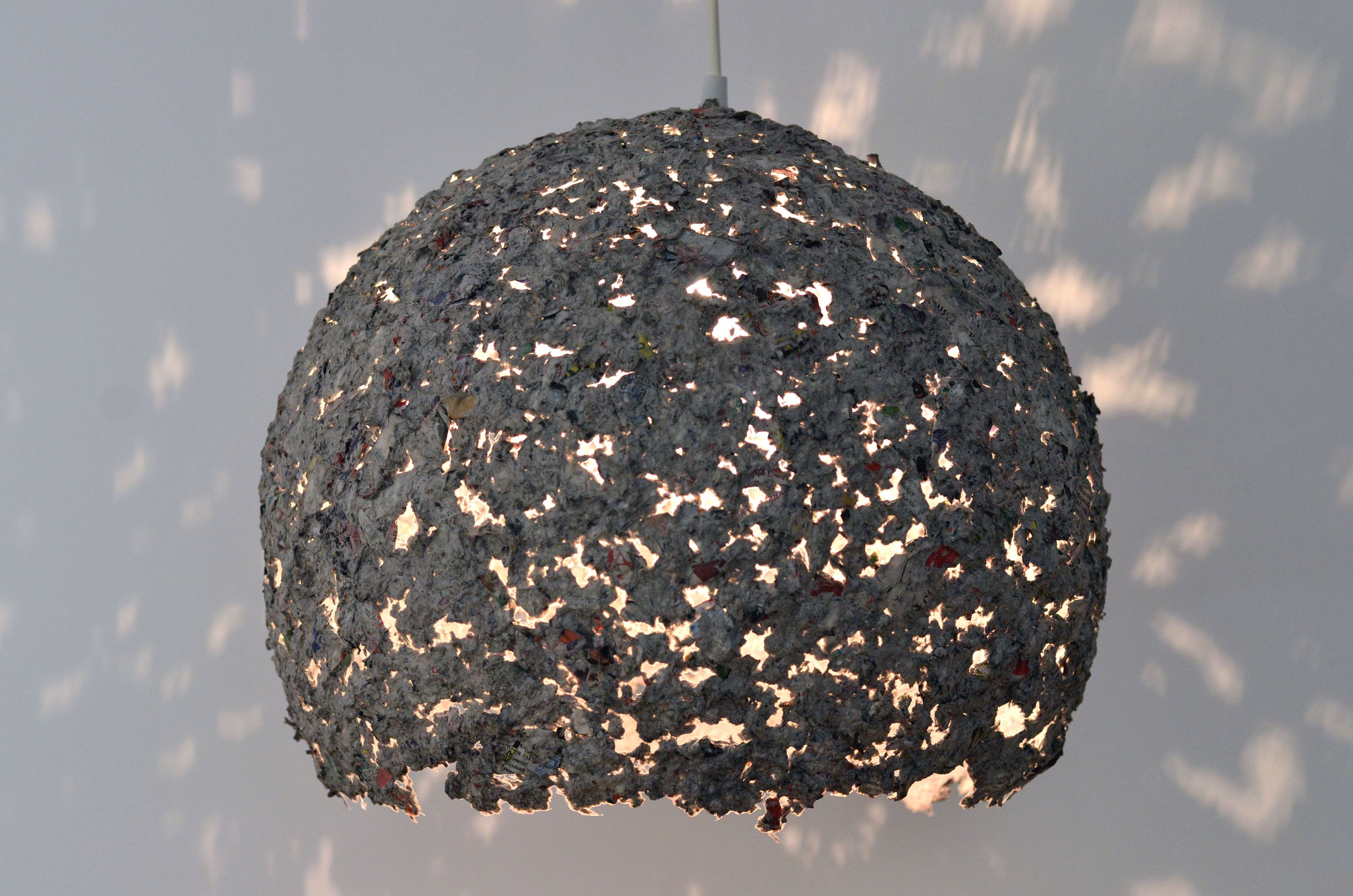 Handmade recycled paper lamps, by Eliza  Laura (7 Lemps)