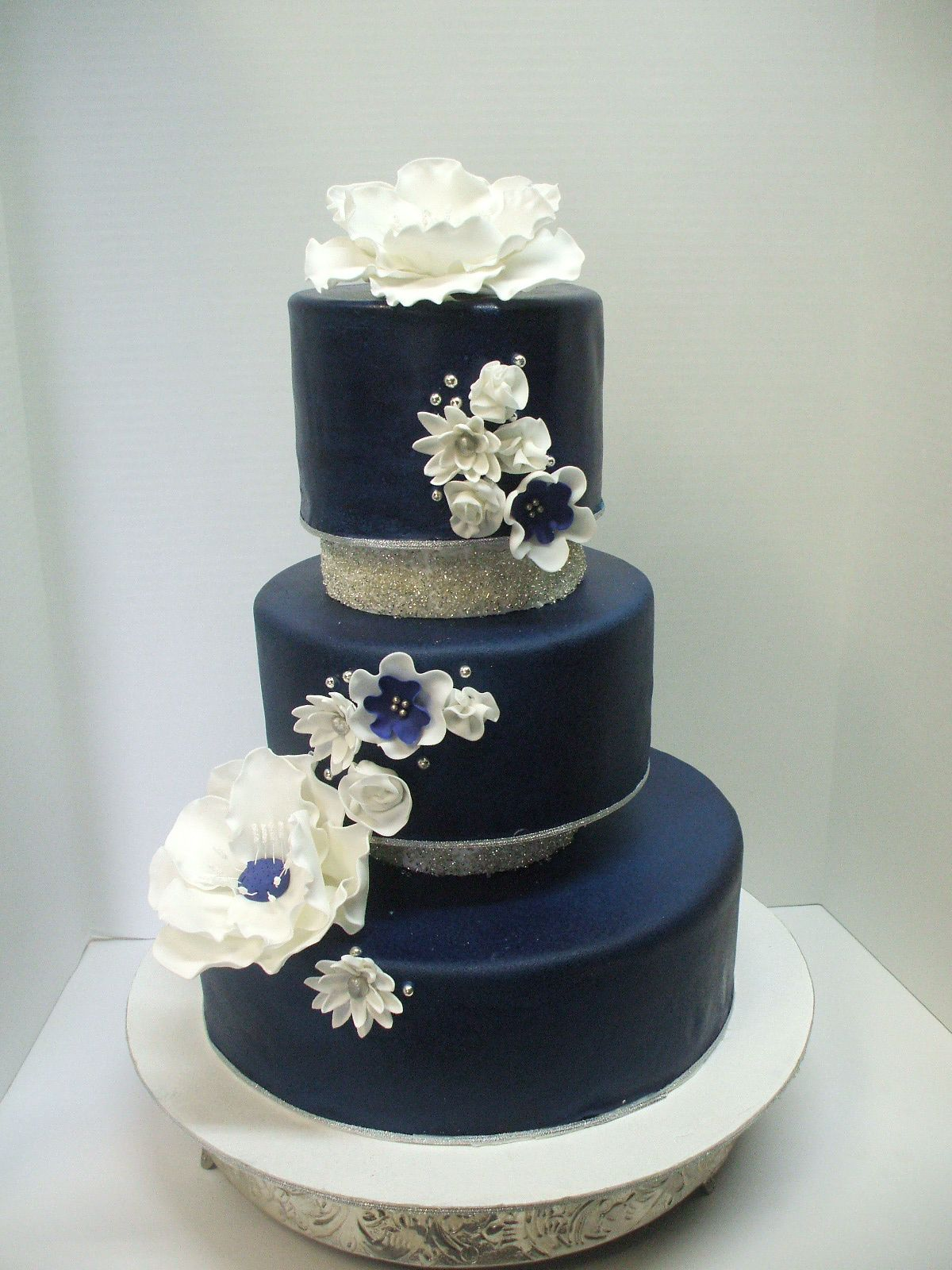 Cake Navy Blue Wedding