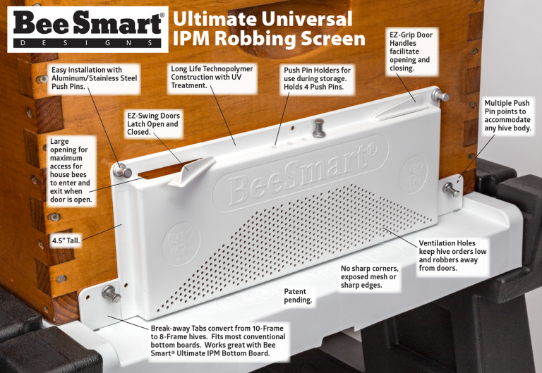 The Ultimate Universal IPM Robbing Screen from Bee Smart Designs© is designed for ease of use, practicality and it works great with the Ultimate Bottom Board. Get yours today!  • • • #bee #bees #beesmart #beehive #honeybee #robbingscreen #screen #features #honey #hives #hivestand #bottomboard #beekeeper #beekeeping #beekeep #apiary #apiaries