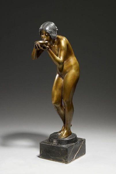 die anglerin bronze