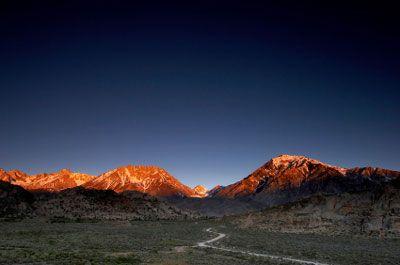 Sierra Nevada mountains near Bishop, California Copyright