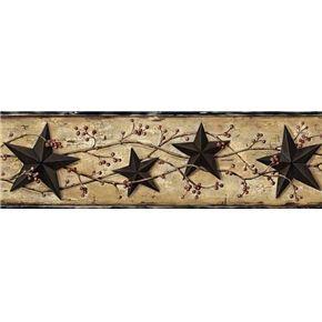 Best Black Barn Star Wallpaper Border Ffr65362B Berry Garland 640 x 480