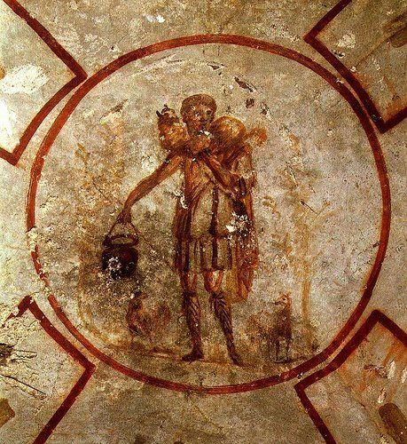 Resultado de imagem para O Bom pastor Icone das catacumbas