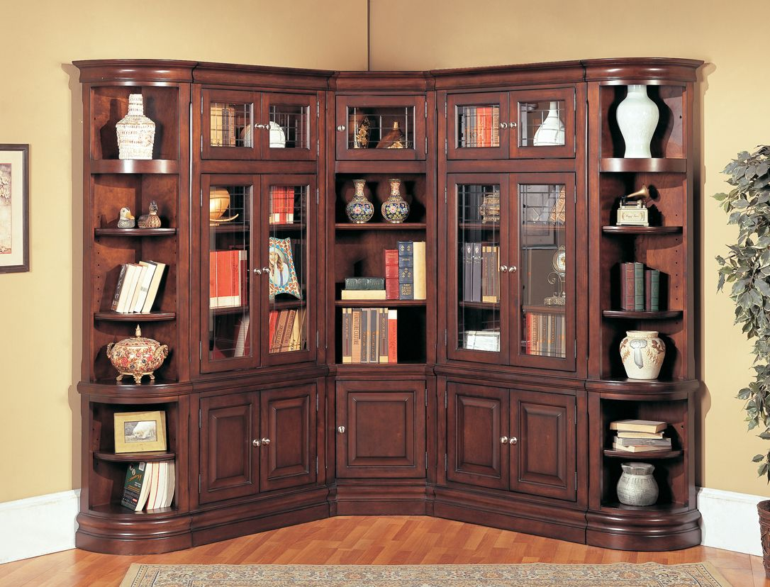 Beautiful Corner Bookcase Bookcase Bookcase Wall Espresso