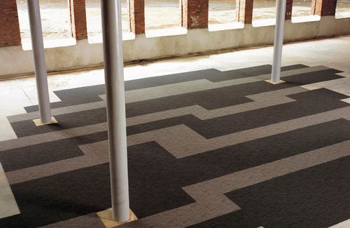 Commercial tufted and cut loop pile synthetic carpet tile for Green label carpet