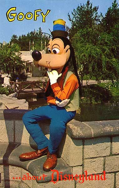 vintage Disneyland Postcard