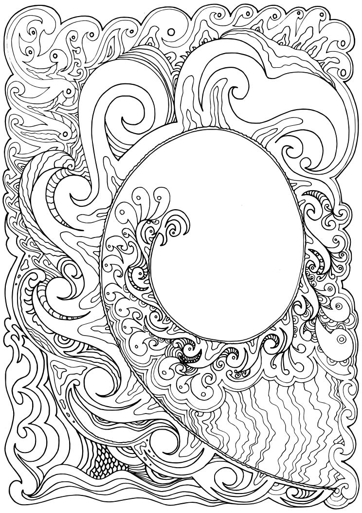 Koru Hand Drawn In Ink Colouring Art Therapy Coloring Pages Printable Coloring Pages