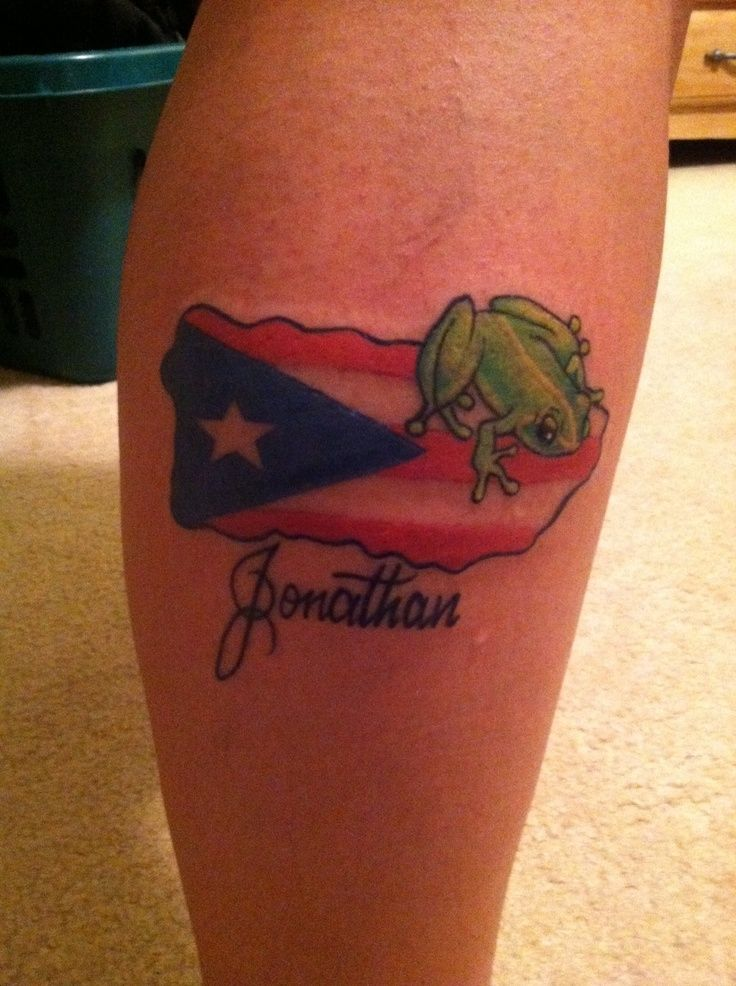 Puerto rican flag tattoos on shoulder things i like for Henna tattoo in puerto rico