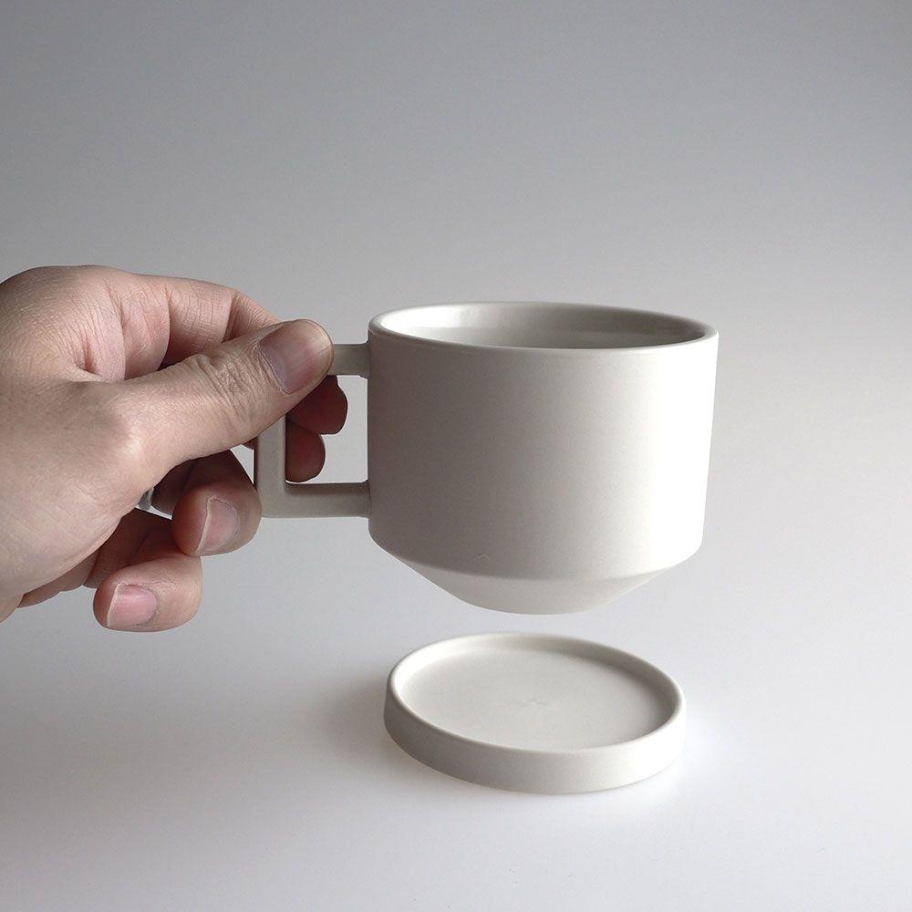 シンプルなデザインでおしゃれな白いコーヒーカップとソーサー コーヒーカップ コーヒーカップ おしゃれ カップ