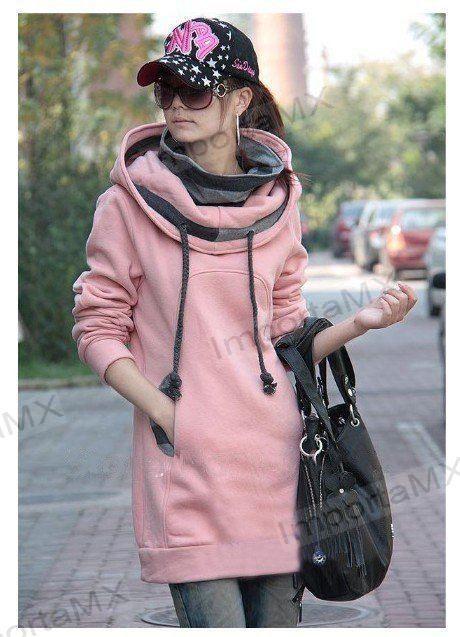 Sudadera larga con bolsillos y capucha 2 colores disponibles | Canguros | Pinterest | Fashion
