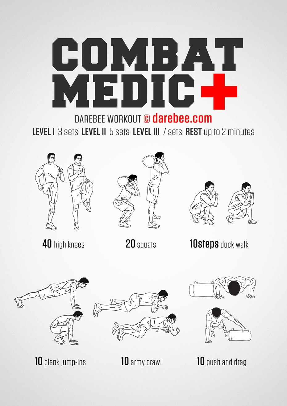 Combat Medic Workout | workouts | Military workout, Army workout