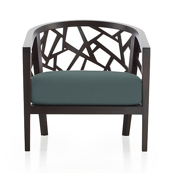 Ankara Chair With Cushion In The Annual Crate And Barrel Upholstery
