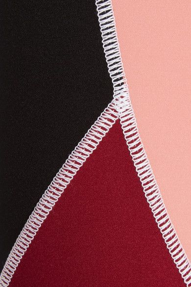 Claret, antique-rose and black stretch-jersey Pull on 62% polyamide, 38% elastane Hand wash  Made in Italy