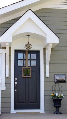 Exterior Paint Color Crownsville Gray Hc 106 By Benjamin Moore Nice Door Overhang