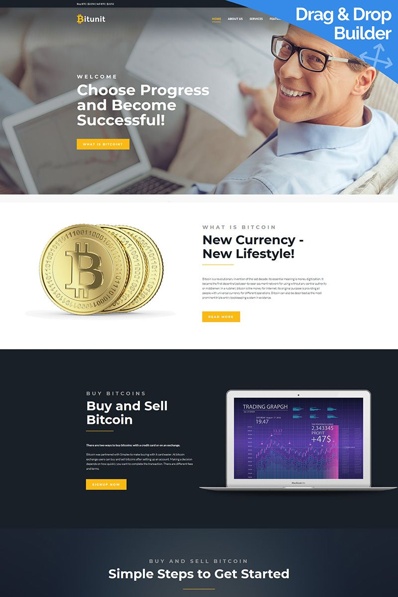 Attract more bitcoin investors to your website with new Bitunit - Bitcoin Cryptocurrency by Moto CMS 3 Template. #bitcoinwebsitedesign #bitcoinwebdesign #bitcoinwebsitelayout https://www.templatemonster.com/moto-cms-3-templates/responsive-moto-cms-3-template-65571.html/
