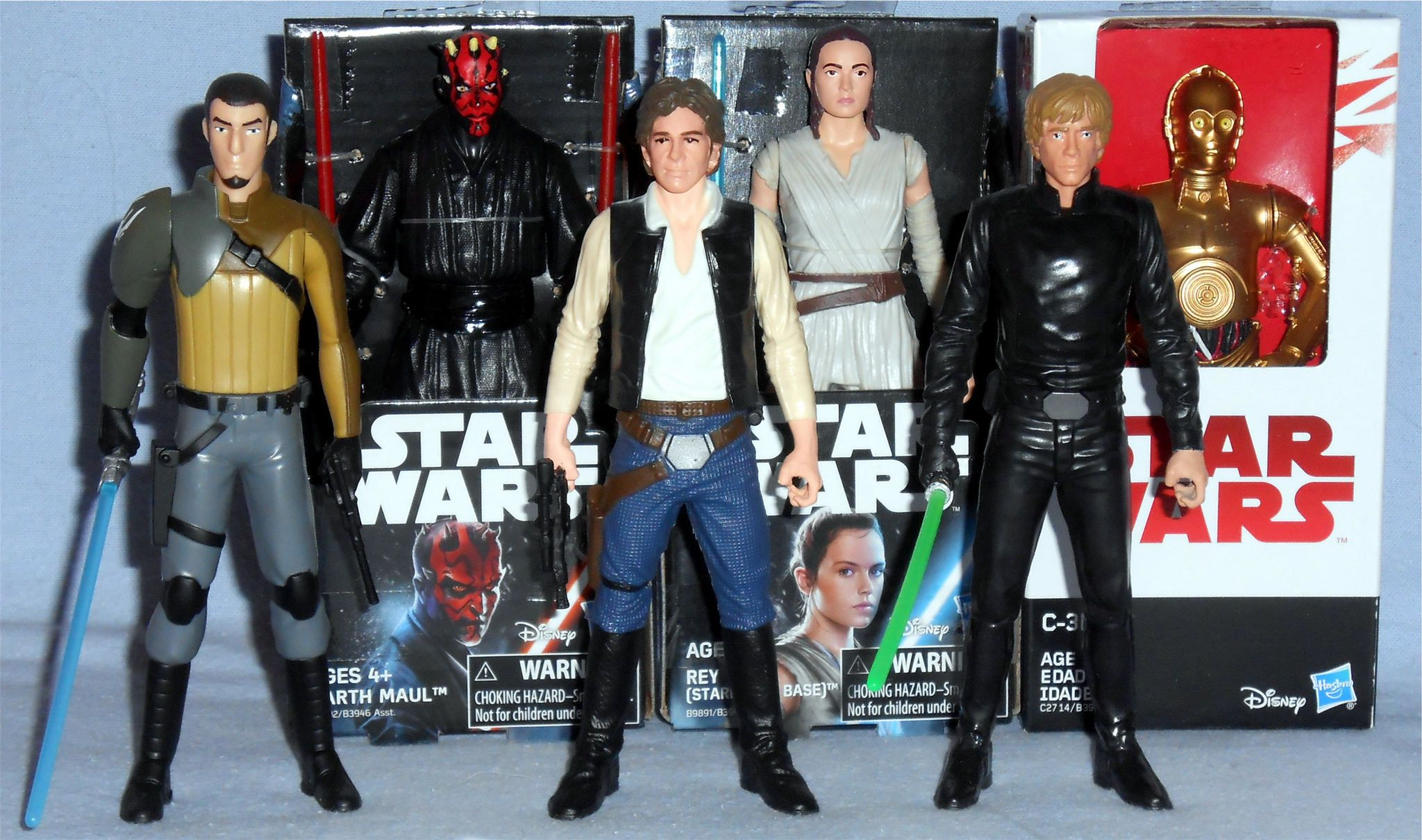 "Lot of 6 Star Wars Luke Skywalker Leia Vader Chewbacca Stormtrooper 3.75/"" Figure"