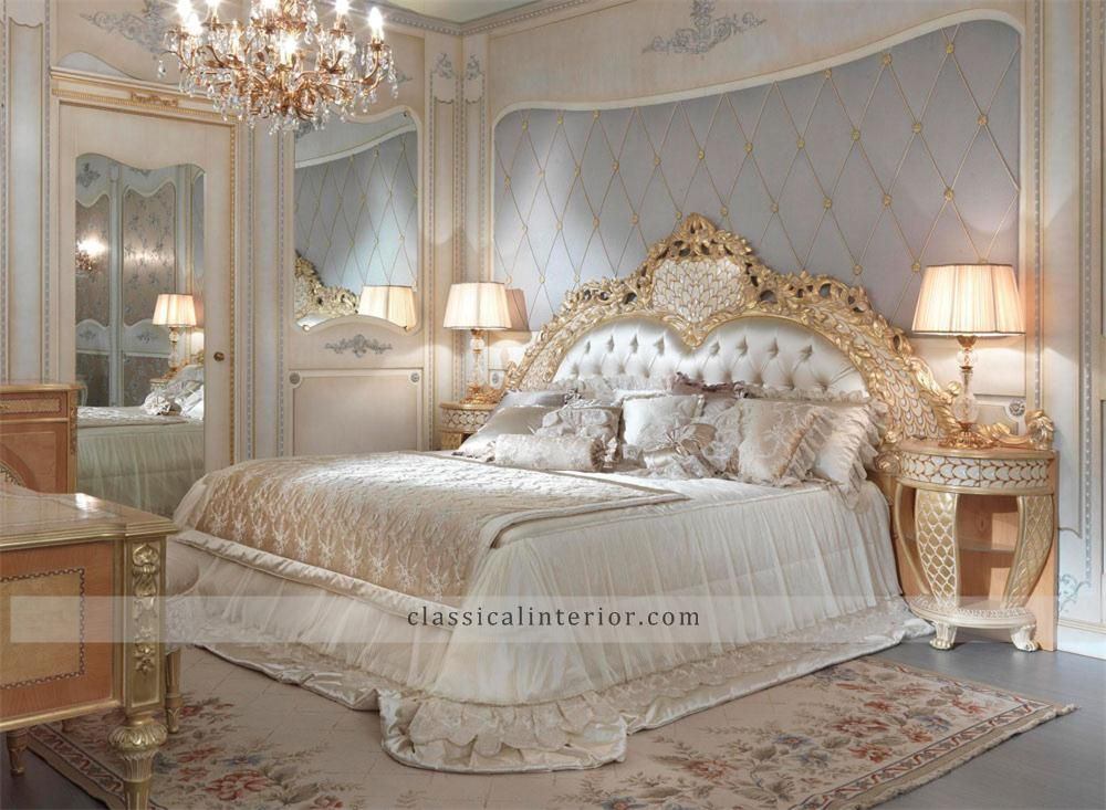 Golden Bedroom Go001b Top And Best Italian Classic Furniture