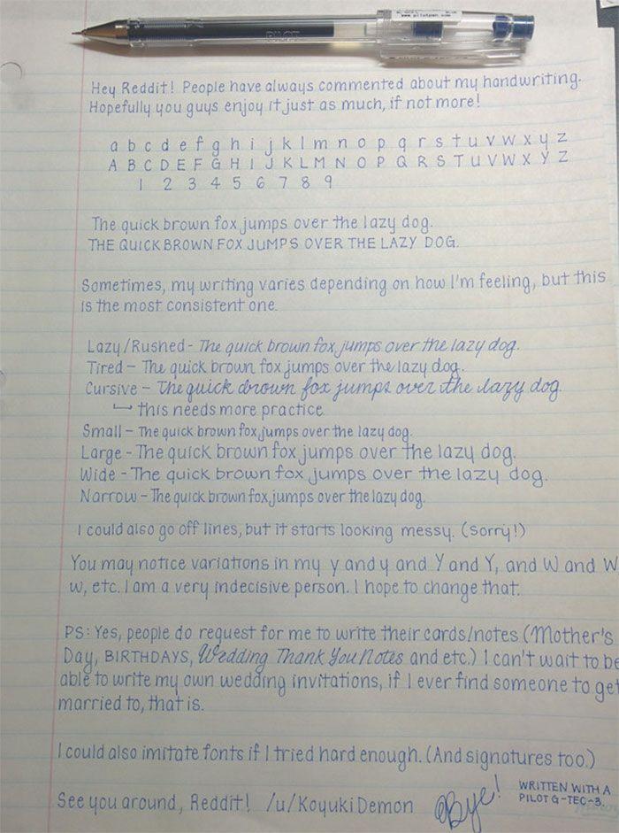 Beautiful Handwriting Handwriting Examples Perfect Handwriting