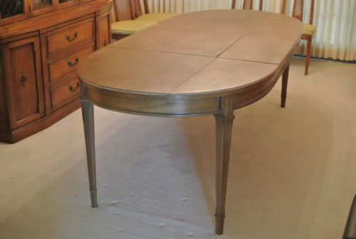 Drexel Heritage Triune Dining Table With 3 Leafs And Protective