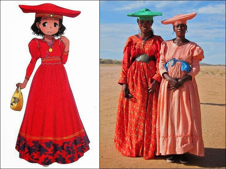 Traditional Clothes Of Herero People In Namibia Botswana