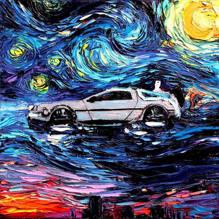 Artist Reimagines Van Gogh S Starry Night With Pop Culture Icons
