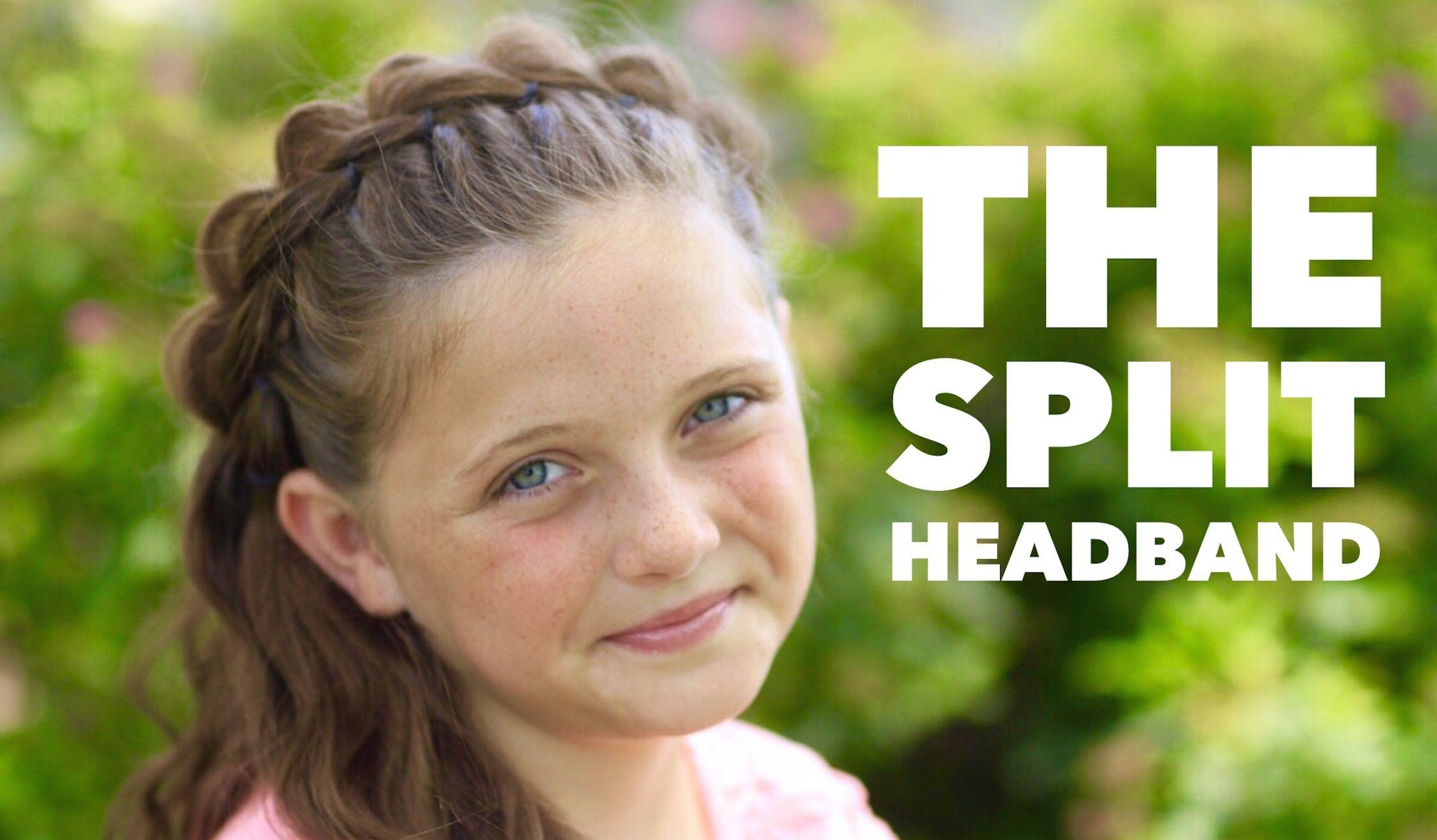the split headband | cute girls hairstyles | fun hairstyles