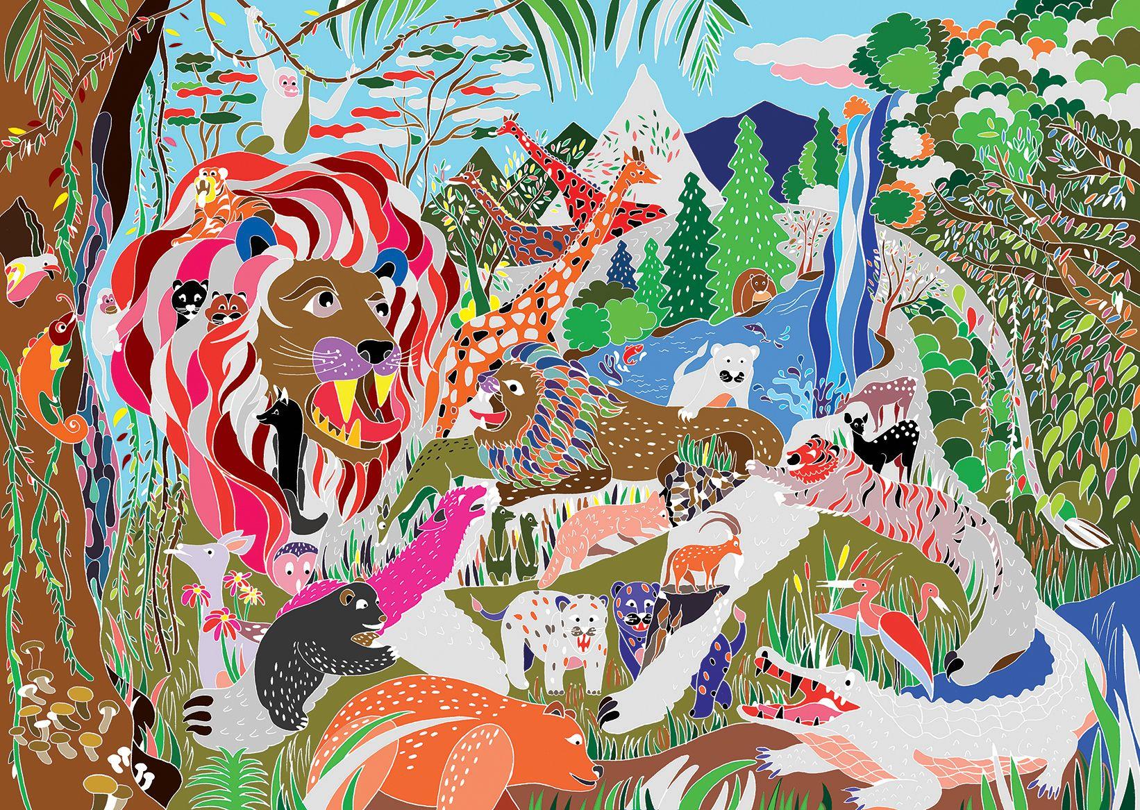 Safari Nightglow Poster - Great Discoveries | Abodee