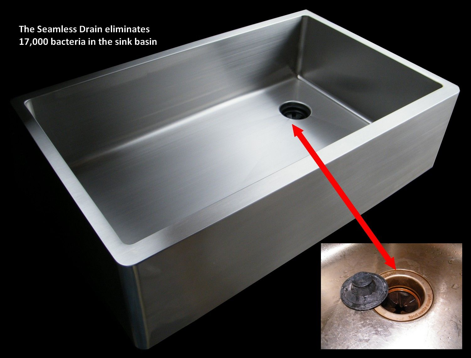 UltraClean Sinks Offer A Seamless, Offset Drain. Keep Debris At One End Of  The. Stainless Steel ...