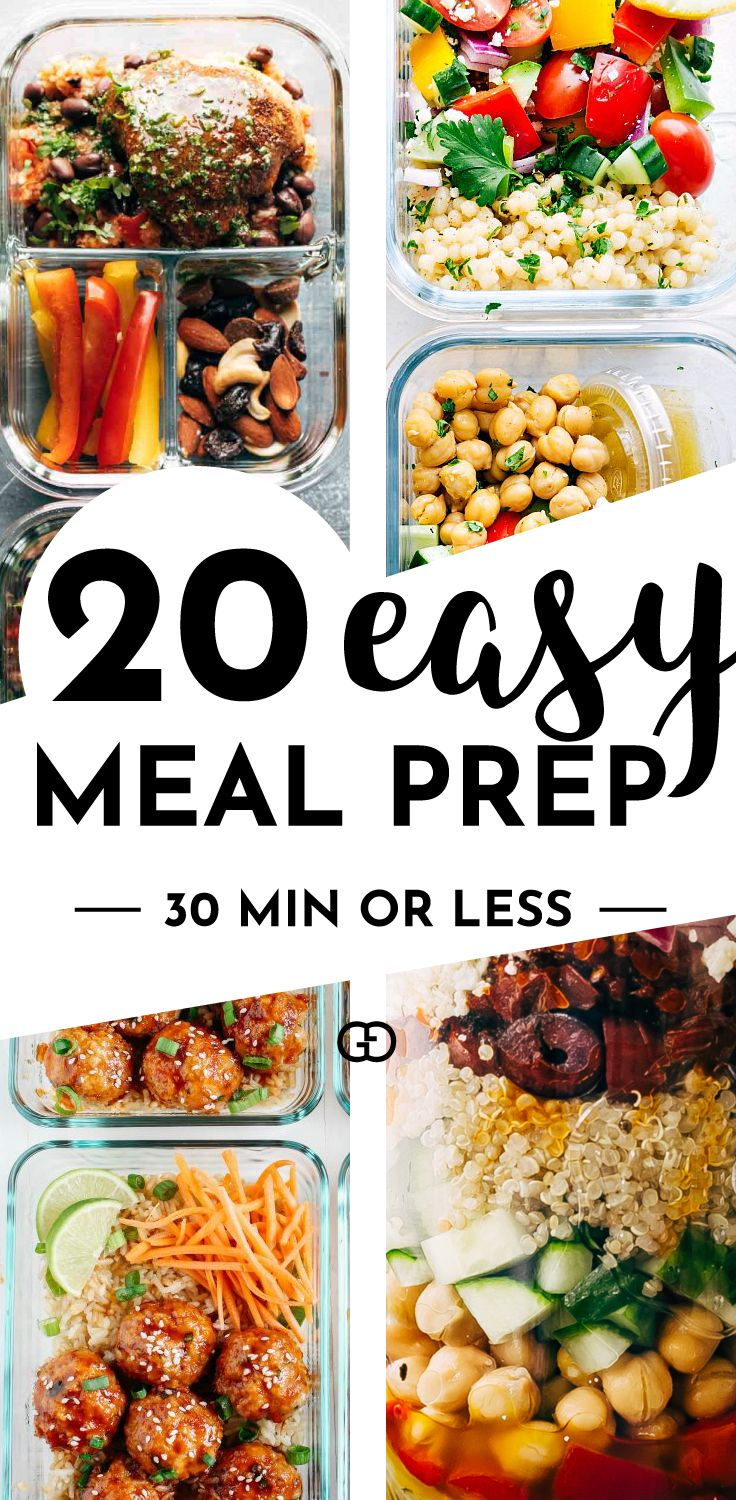 20 Easy Meal Prep Recipes Ready in 30 mi or less! images