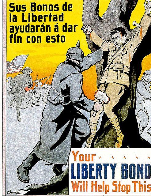 Philippines Wwi Liberty Bond Crucifixion Poster Propaganda Posters Ww1 Propaganda Posters American Propaganda