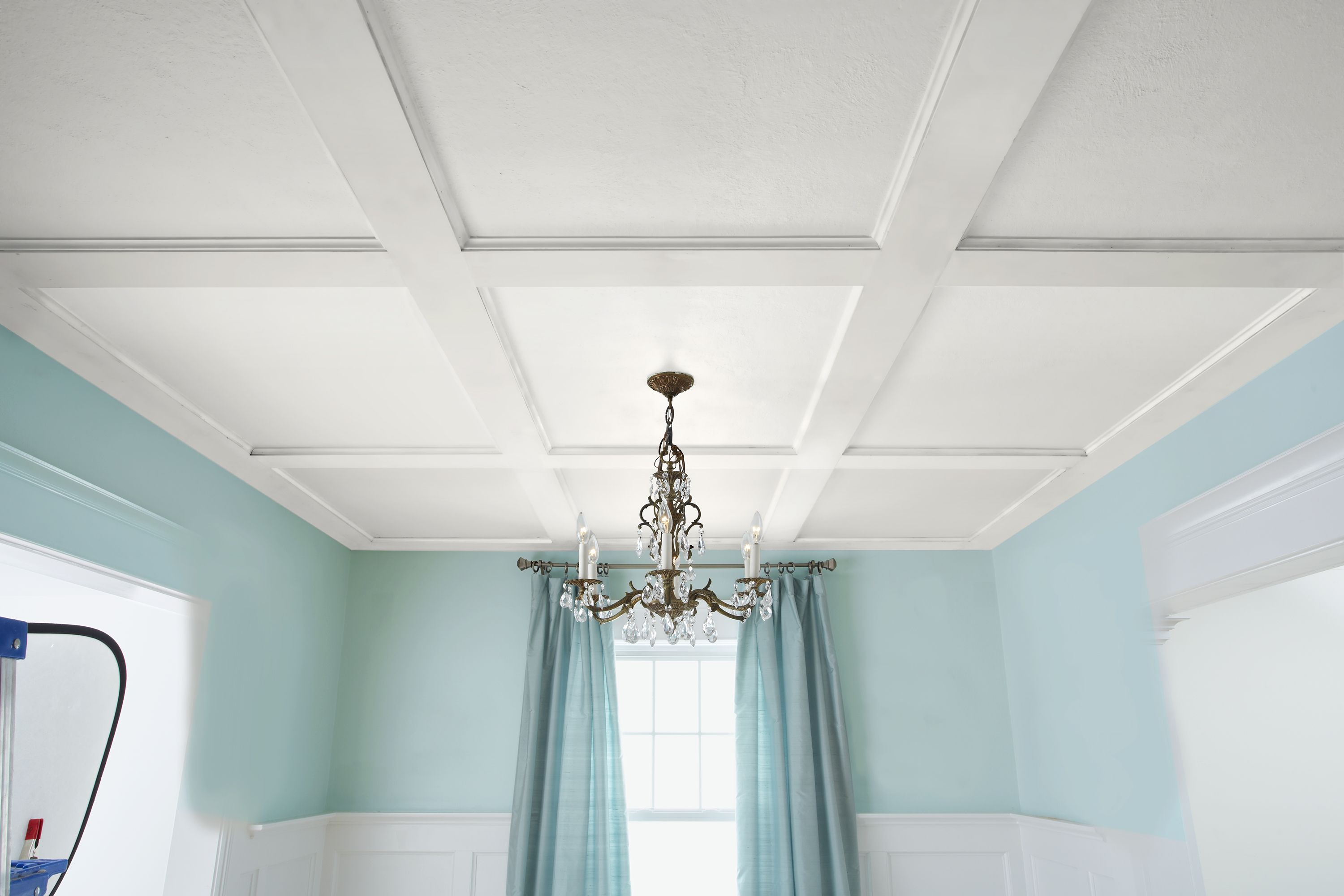 How to Build a Coffered Ceiling | Blue walls, Ceilings and Aqua blue