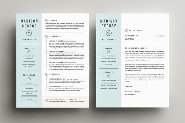 Resume \ Cover Letter Template - Resumes - 2 g d Pinterest - template for resumes