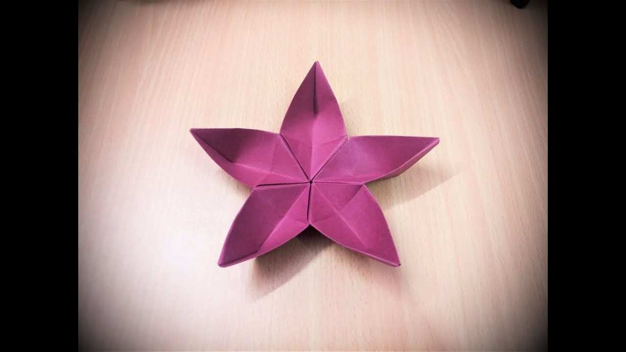 How To Make An Origami Paper Flower 2 Papercraft Pinterest